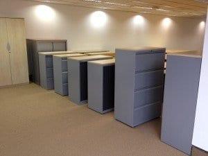 Grey Storage Units