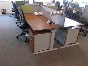 Techno Walnut Office Desks